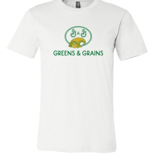 "Limited run ""10 Items or Less"" Greens & Grains T with signed photo"
